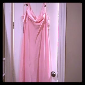 Pink long evening or prom gown